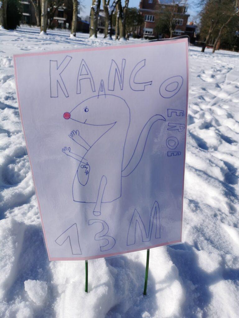 Een superleuke opdracht bij de speurtocht: Springen zoals een kangoeroe!