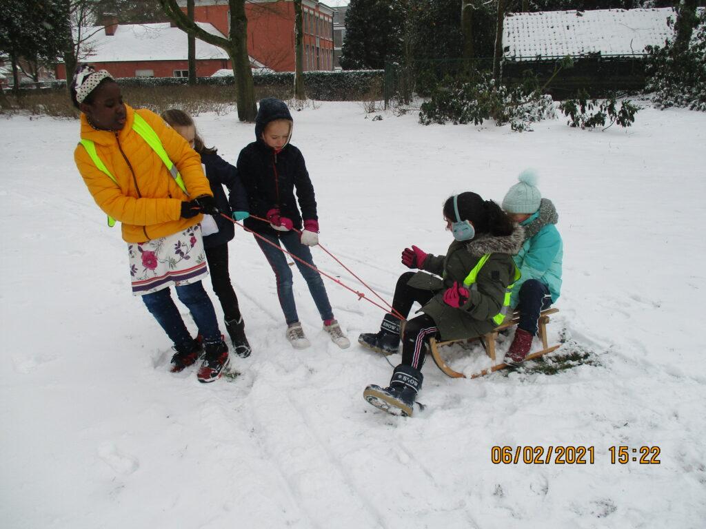 Pret in de sneeuw!
